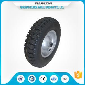 Buy cheap Steel Rim Pneumatic Rubber Wheels 20mm Inner Hole Ball Bearing 150kgs Loading product