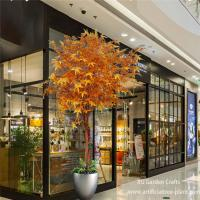 Buy cheap Customized Autumn Leaves Artificial Maple Leaves With Wood Trunk / Fake Maple Tree product