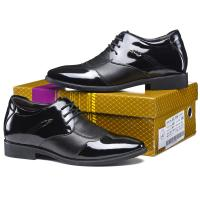 Men Elevator Shoes Genuine Leather Party Formal Dress Shoes Black Taller 2.36