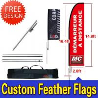 China Windchaser Feather Flags Banner with fiberglass pole , cross base and carry bag wholesale