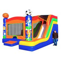 Buy cheap Sport Themed Inflatable Bouncer Combo Jumper With Slide Double Stitching Fireproof product