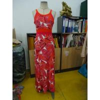 Buy cheap Beautiful Womens Summer Maxi Dresses Single Jersey Maxi Dress Coral Abstract Printing product