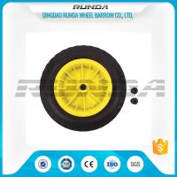 Buy cheap Inflatable Pneumatic Rubber Wheels 16mm Inner Hole Plastic Rim Bush Bearing 3.50-8 product