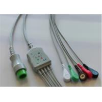 5 Lead Mindray Ecg Cable, Round 12 Pins Adult Ecg Cables And Leadwires