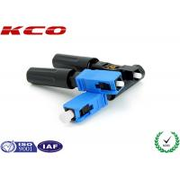 China SC Single Mode Fiber Optic Fast Connector Long Boot 3.0 mm for FTTH Cable on sale