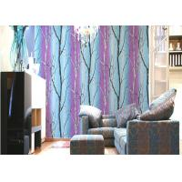 Buy cheap Tree Printing Room Decoration Contemporary Striped Wallpaper With PVC Material product