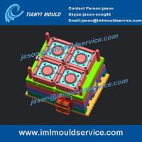 Buy cheap thin wall ice cream packaging with lids mould, 4 cavities ice cream tubs molding structure product