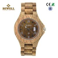 Buy cheap Leisure Stylish Personalized Waterproof Wooden Watch With Calendar And Japan Movement product