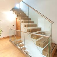 Buy cheap Side Mounted Tempered Glass Stainless Steel Standoff Stair Railing product