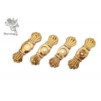 Buy cheap Gold Funeral Coffin HardwareBracket Matching With Screw , Casket Hardware Suppliers product