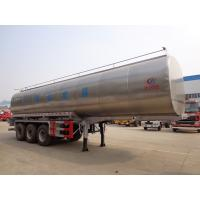 Buy cheap 40t Fresh Milk Delivery Tanks Trucks And Trailers 3 Axle Stainless Steel Milk Tank Truck product