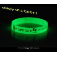 Buy cheap high quality customized silicone wristbands for events glow in dark product