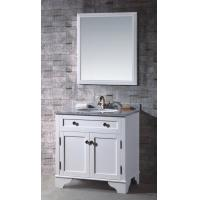 Buy cheap Single Sink Bathroom Vanity Cabinets Floor Mounted Solid Wood Carcase Material product