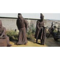 Buy cheap 100% hand made bronze human sculpture of ancient great man product