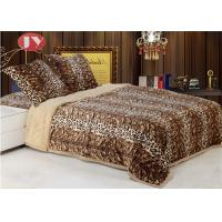 China Faux fur plush animal print large size double layers microplush Faux Fur Reversible throw blankets for winter on sale