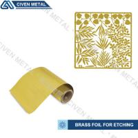 Buy cheap Rolled Brass Foil Roll For Etching In A Wide Range Of Thicknesses And Widths product