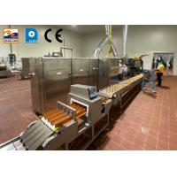 Buy cheap Commercial Biscuits Sugar Cone Production Line Rolled Wafer Machine product