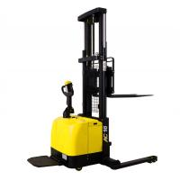 Buy cheap Wide Legs1.6 Ton Electric Pallet Stacker Forklift 280AH Battery Charged product