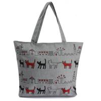 Buy cheap Print Animal Cartoon Womens Canvas Shopper Bag With Shoulder Straps product