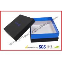Buy cheap Elegant Black Gift Packaging Boxes with top and base / blister tray from wholesalers