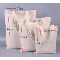 Buy cheap Plain Canvas Bags Reusable For Daily Shopping / Commercial Promotion product