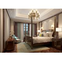 Buy cheap Creamy White Living Room Wallpaper with Embossed Symmetrical Floral Pattern product
