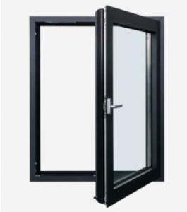 Buy cheap Triple Glazed Tilt And Turn Windows Black Aluminium Framed Impact Glass product