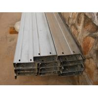 Buy cheap Automatic Drilled Holes Steel Building Purlins , Cold Rolled Steel C Purlin  product