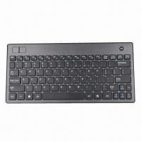China Wireless Keyboard with Trackball Mouse, Mini Keyboard, RF and Bluetooth Keyboard Available, Slim on sale