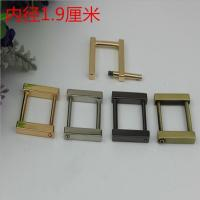 Buy cheap Fancy gold can detachable 19 mm metal rectangle square buckles for handbag product