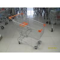Buy cheap Asian Type 100L Wire Shopping Trolley / Grocery Shopping Cart With 4inch TPE casters product