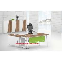 Buy cheap Wooden and steel  L Shape Office Furniture  Executive Desk L1600X800MM with side wooden cabinet product