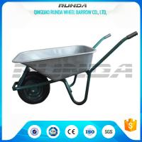 Buy cheap Tubular Steel Axle Heavy Duty Galvanised Wheelbarrow 5CBF Sand Capacity Wb6414t product