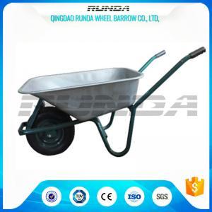 Buy cheap Tubular Steel Axle Heavy Duty Galvanised Wheelbarrow5CBF Sand Capacity Wb6414t product