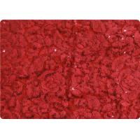 Buy cheap Red Lightweight Lace Overlay Fabric Home Decorator Fabric Cloth product
