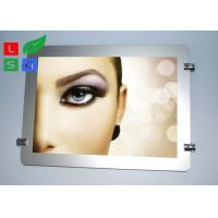 Buy cheap Round Corner LED Light Box Display , Magnetic Photo Light Box With Wire Hanging System product