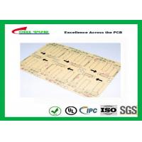 Buy cheap CNC / V-CUT Surface Finish Single Sided Printed Circuit Board with Black Sillkscreen product