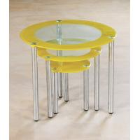 Buy cheap chromed-plated/tempered glass tea table  A006 product