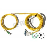 Buy cheap Yellow Jacket Fiber Optic Y Cable Coupler Module With Connector 2*4 Corning Cable product