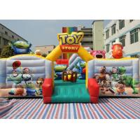 China 0.55mm PVC Tarpaulins Toy Story Inflatable Bouncer Combo / Toddler Bounce House on sale