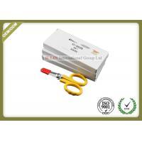 China Straight Shape Fiber Optic Kevlar Cutter With Sawtooth Yellow Color on sale