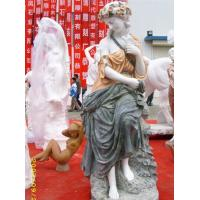 Buy cheap Marble colored girl statues flowers product