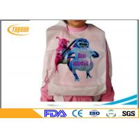 Buy cheap Eco Friendly Plastic Disposable Bibs For Adults , Waterproof Disposable Lobster Bibs product