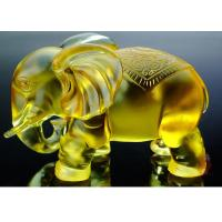 Buy cheap Amber Colored Glaze Indoor Home Decoration Elephants Figurine Statue 135*80*115mm product