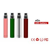 China 650mah DC 5V 1A 800puffs E Cig Batteries , EGO LED Battery on sale