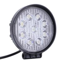 Quality 27W Round Vehicle LED Work Lights DC 9-30V 1620 Lm Lumens , Stainless Steel Bracket for sale