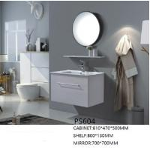 Buy cheap Waterproof PVC Vanity Cabinets For Bathroom / Howeroom / Washroom Using product