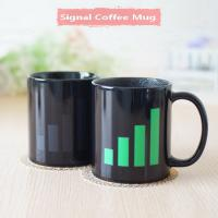 Quality Signal Heat Sensitive Mugs That Change Color Popular Color Changing Coffee Cup for sale