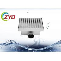 Quality 3.5 Inch Stainless Steel Floor Drain Large Flow Flange Edge Smooth Surface for sale