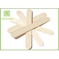 China Craft Stick Plain Taster Ice Cream Wooden Sticks Ice Cream Paddle Spoon Paper Wrapped wholesale